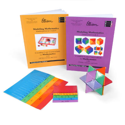 An image showing ellison workbooks and manipulatives
